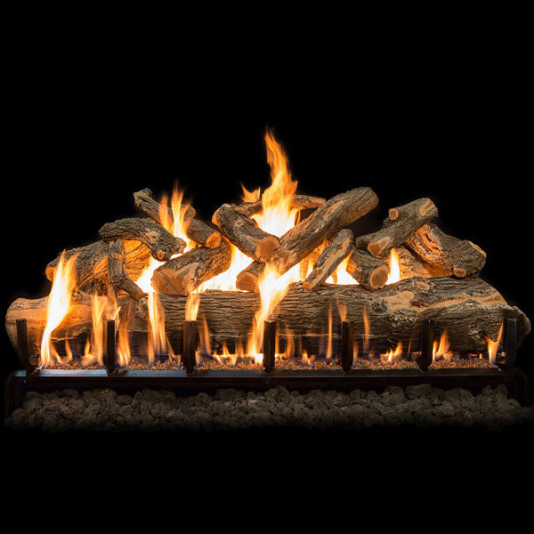 "Grand Canyon Jumbo Weathered Oak Slim Vented Gas Log Set 30"", 36"", 42"", 48"", 60"" - ExceptionalFire"