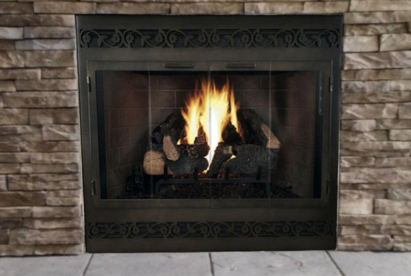 Steel Fireplace Glass Door Zero Clearance - Legend ZC Deluxe Direct Vent - ExceptionalFire