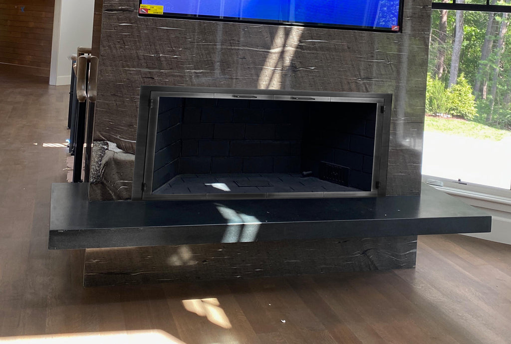 Steel Fireplace Glass Door Masonry & Zero Clearance - Legend - ExceptionalFire