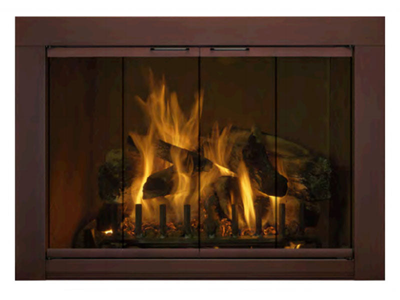 Aluminum Fireplace Glass Door Masonry - Medio - ExceptionalFire