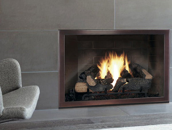 Steel Fireplace Glass Door Masonry & Zero Clearance - Slim Moderne