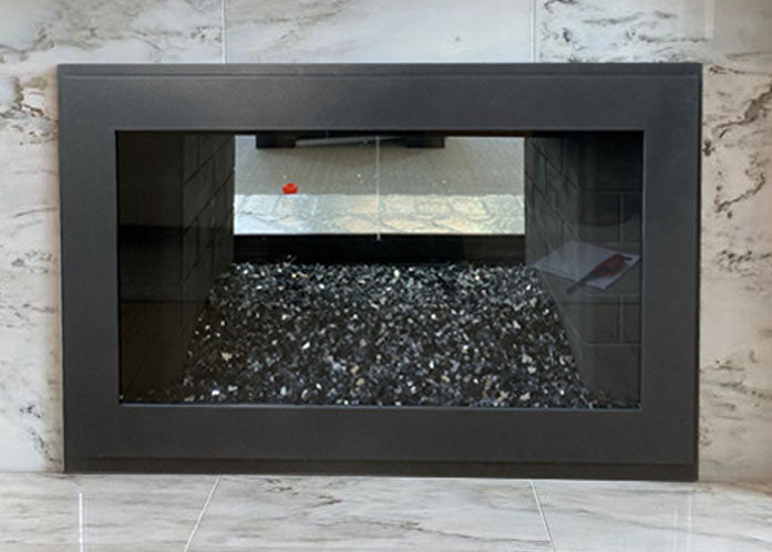 Steel Fireplace Single Panel Glass Door Masonry & Zero Clearance - Original Moderne - ExceptionalFire