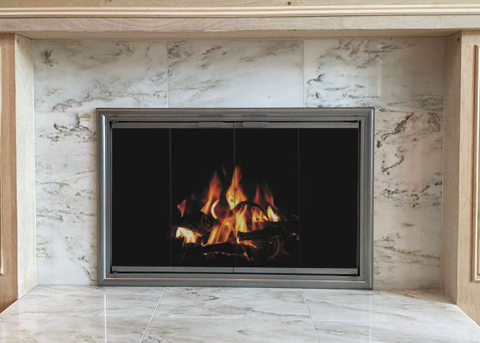 Aluminum Fireplace Glass Doors Masonry & Zero Clearance - Phoenix - ExceptionalFire