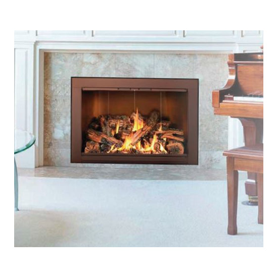 Aluminum Fireplace Glass Door Masonry - Picollo - ExceptionalFire