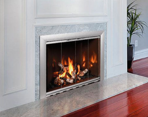 Aluminium Stock Fireplace Doors Masonry - Reflective - ExceptionalFire