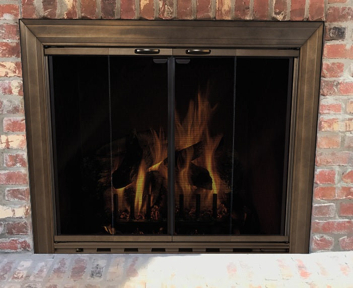 Aluminium Stock Fireplace Doors Masonry - Savannah - ExceptionalFire