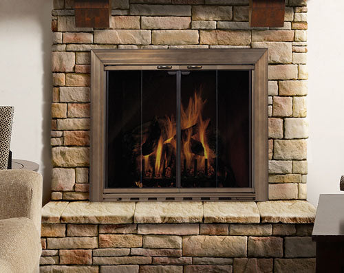 Aluminum Fireplace Glass Door Masonry - Savannah - ExceptionalFire