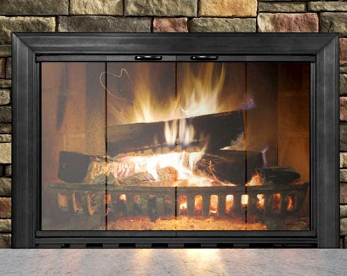 Aluminium Stock Fireplace Door Masonry - Savannah - ExceptionalFire