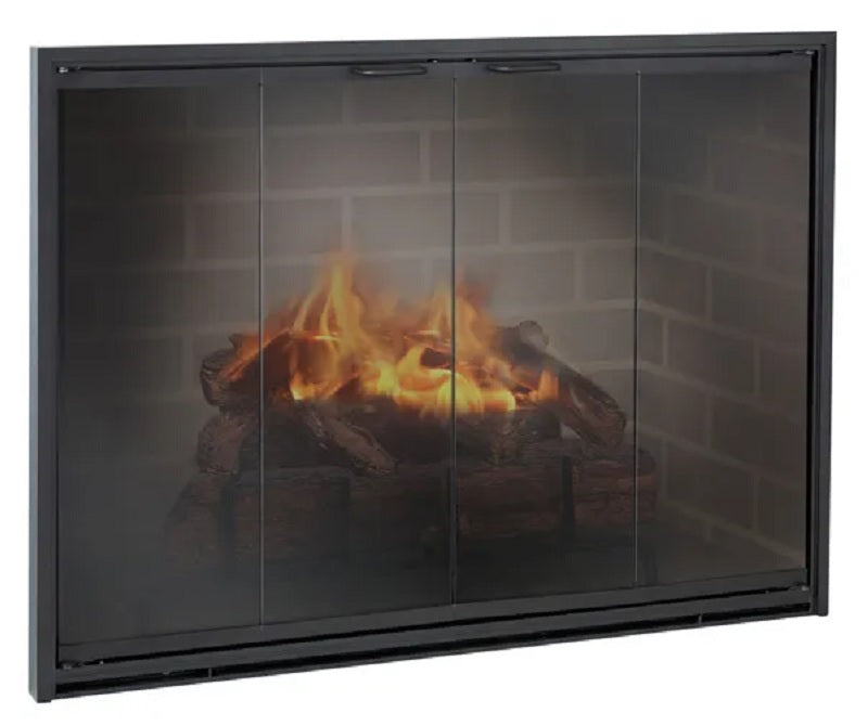 Aluminum Fireplace Glass Doors Masonry & Zero Clearance - Stiletto - ExceptionalFire