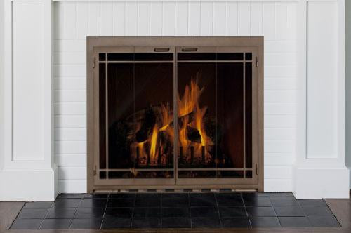 Steel Fireplace Glass Door Masonry & Zero Clearance - Carolina Window Pane - ExceptionalFire