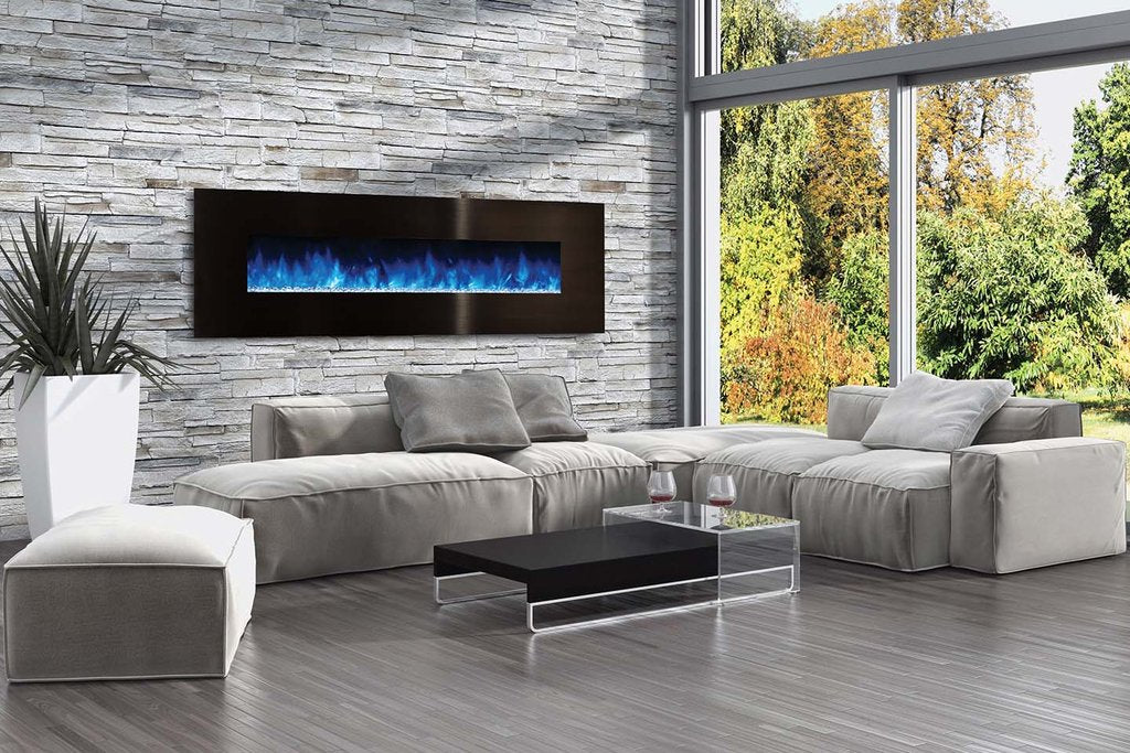 Modern Flames Ambiance 80'' Wall Mount Electric Fireplace AL80CLX2-G - ExceptionalFire