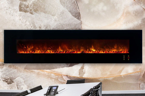 Modern Flames Ambiance 100'' Wall Mount Electric Fireplace AL100CLX2-G - ExceptionalFire