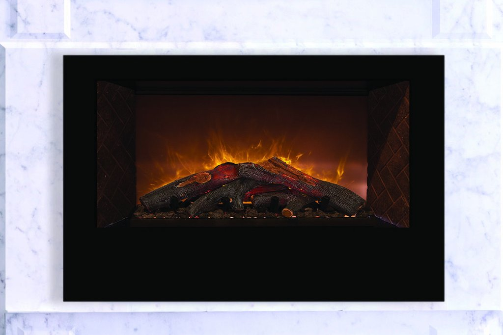 "Modern Flames Home Fire 42"" Built In Electric Firebox Insert HF42CBI - ExceptionalFire"