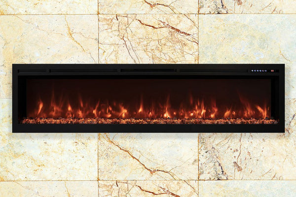 Modern Flames Spectrum 74'' Wall Mount Built-In Electric Fireplace SL74-B - ExceptionalFire