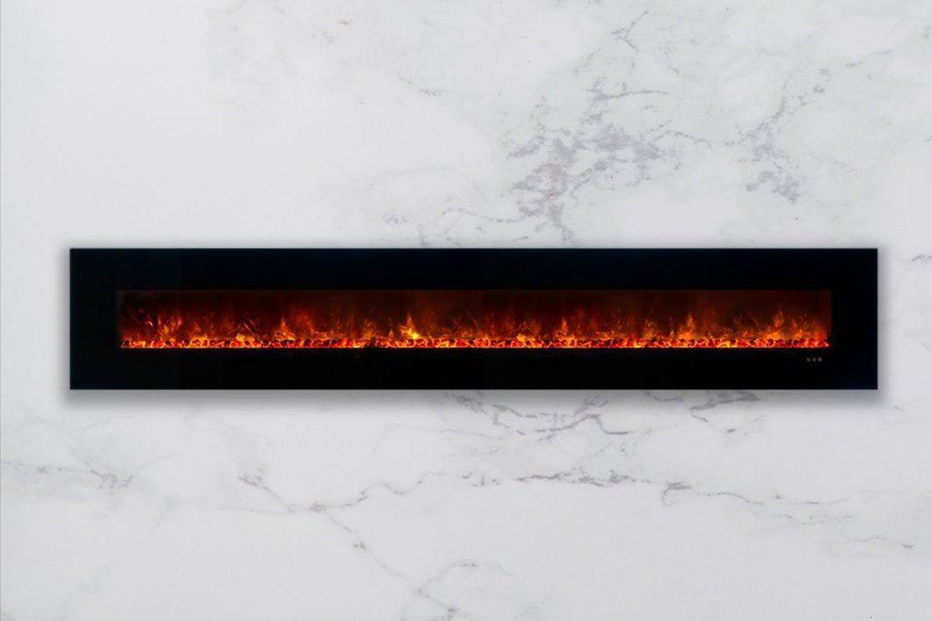 Modern Flames Ambiance 144'' Wall Mount Electric Fireplace AL144CLX2-G - ExceptionalFire