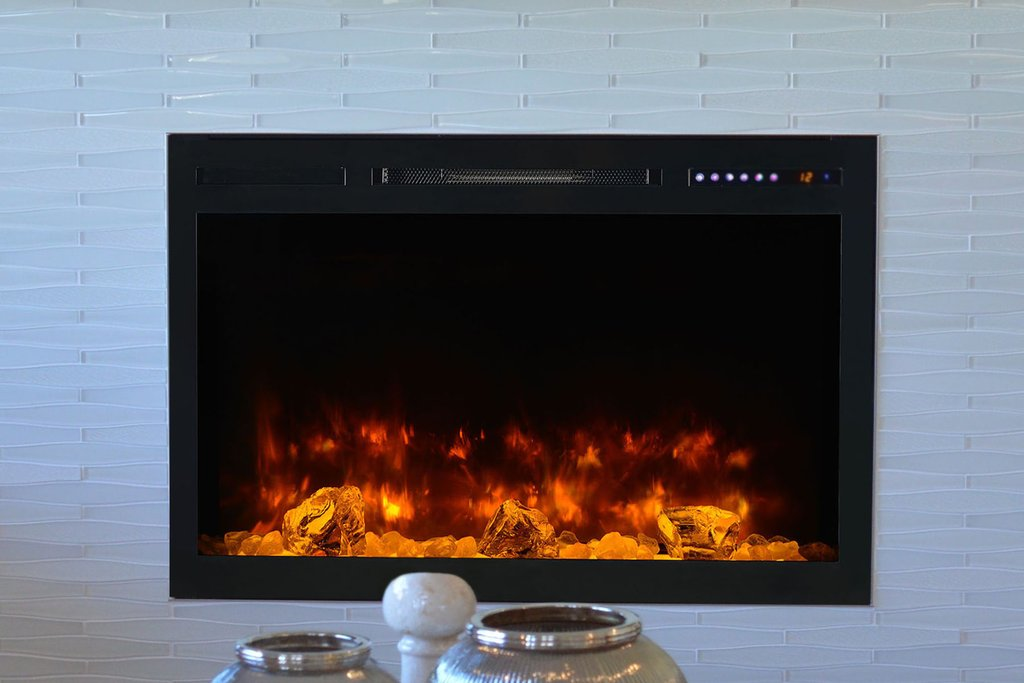 Modern Flames Spectrum 36'' Wall Mount Built-In Electric Fireplace SL36-B - ExceptionalFire