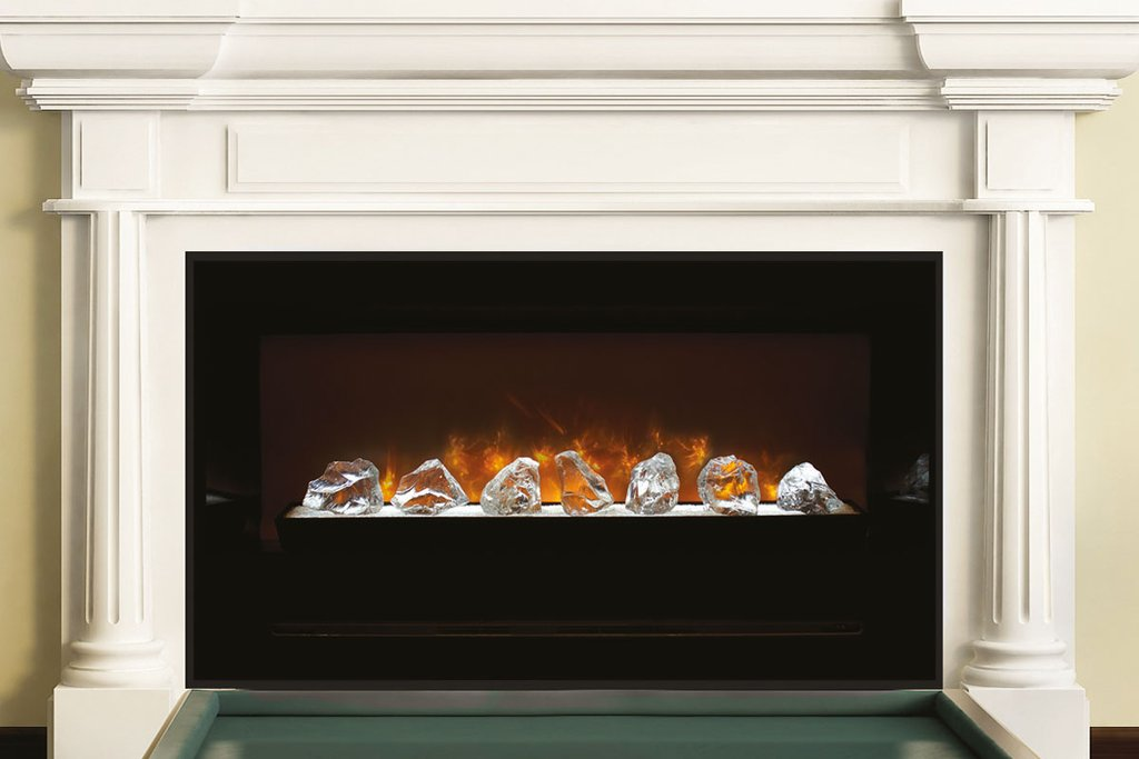 "Modern Flames Home Fire 60"" Built In Electric Firebox Insert HF60CBI - ExceptionalFire"