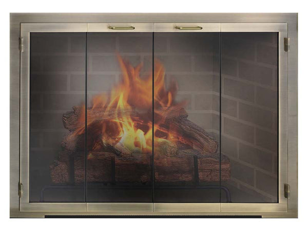Steel Fireplace Glass Door Masonry & Zero Clearance - Legend