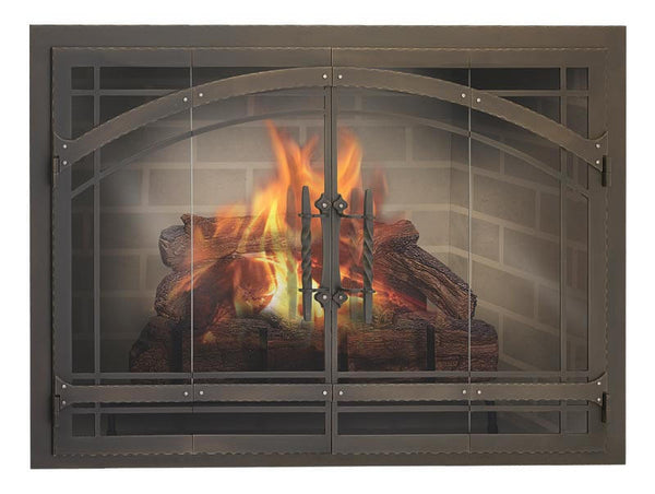 Steel Fireplace Glass Door Masonry & Zero Clearance - Madrid
