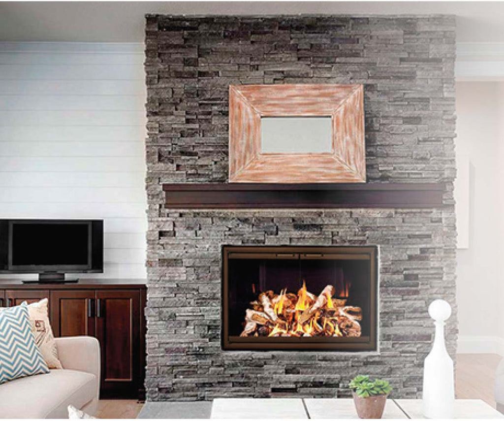 Aluminum Fireplace Glass Doors Zero Clearance - Rainbow - ExceptionalFire