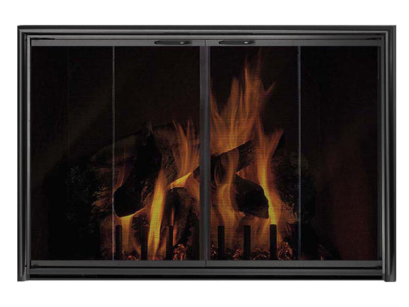 Aluminum Fireplace Glass Doors Masonry & Zero Clearance - Silhouette - ExceptionalFire