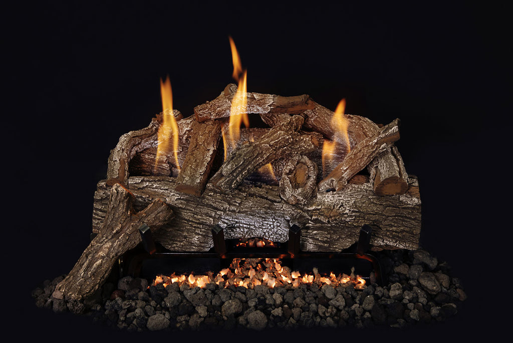 "Grand Canyon Red Oak Vent Free Gas Log Set / Sizes: 18"", 24"", 30"" - ExceptionalFire"