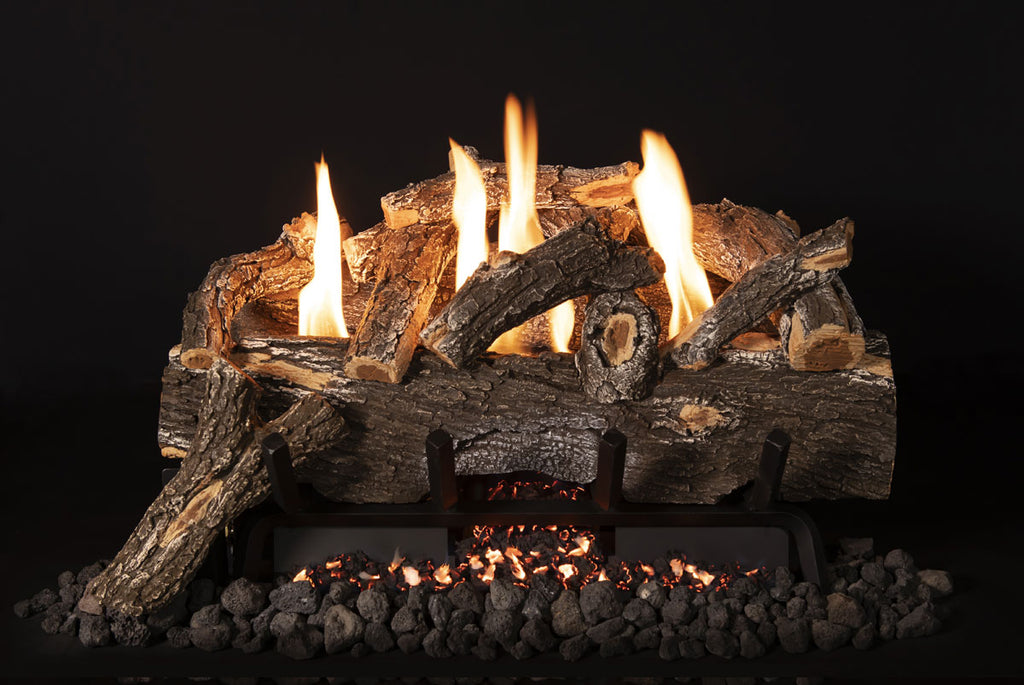 "Grand Canyon Weathered Oak Vent Free Gas Log Set / Sizes: 18"", 24"", 30"" - ExceptionalFire"