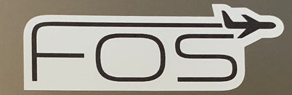 Image of FOS Decal, Black Logo on a White Background