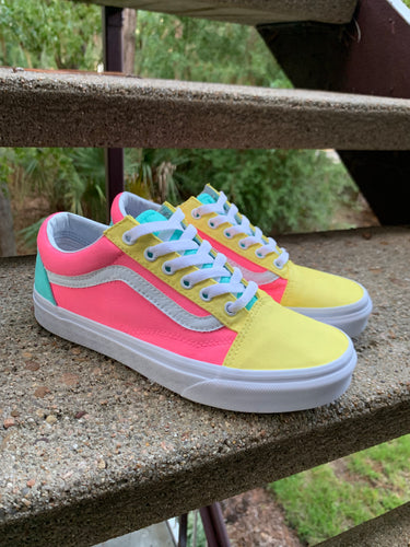 "VANS Custom Pastel ""Cotton Candy"" Old Skool Shoes"