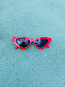 Red Cat Eye Vintage Sunglasses