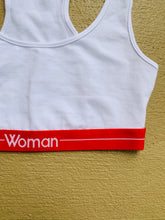 "Load image into Gallery viewer, FOREVER 21 ""Woman"" Sports Bra"
