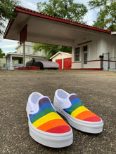 "Load image into Gallery viewer, VANS Custom ""Pride"" Slip On Shoes"