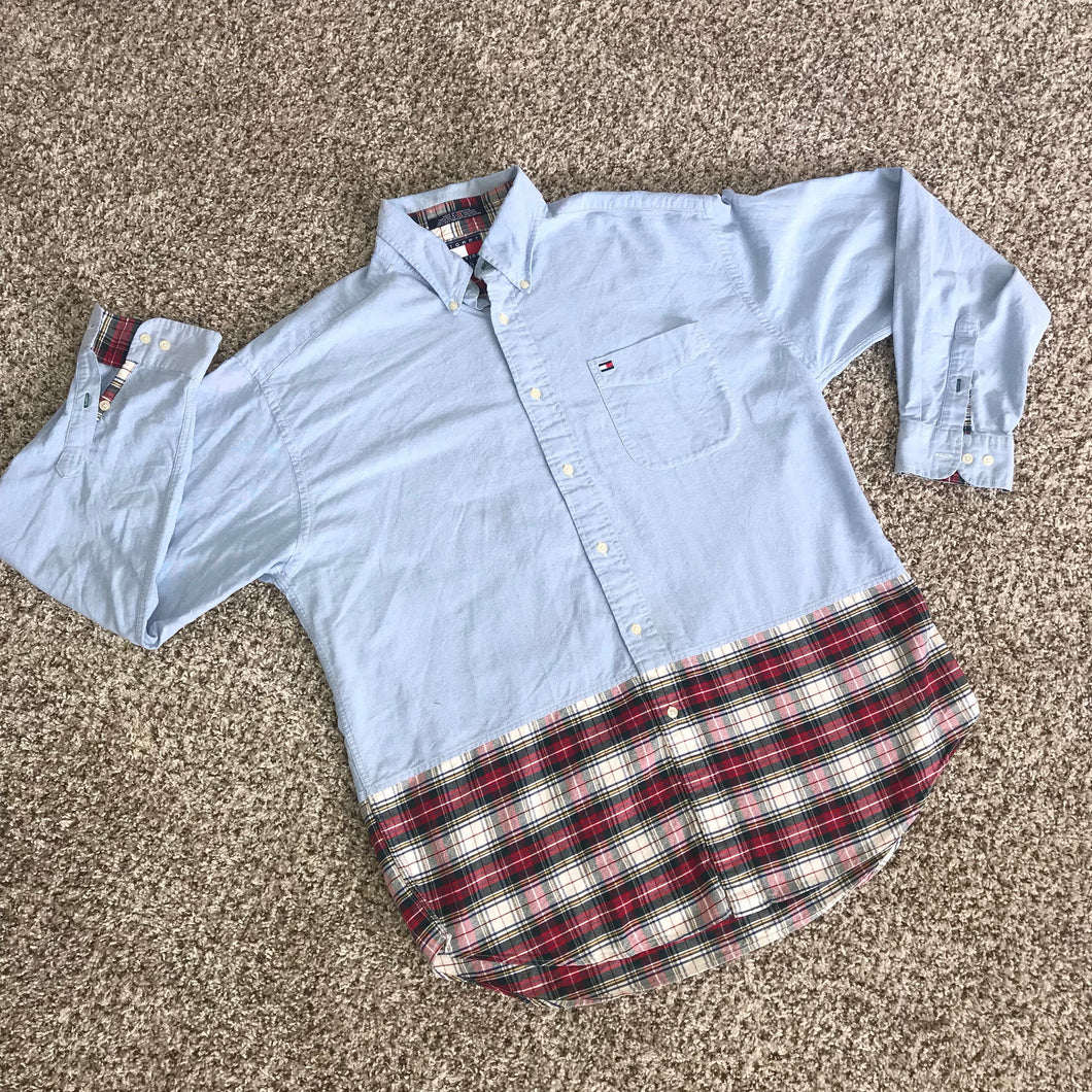 TOMMY HILFIGER 80's Vintage Button-Down Shirt