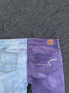 AMERICAN EAGLE Two-Tone Custom Jeans