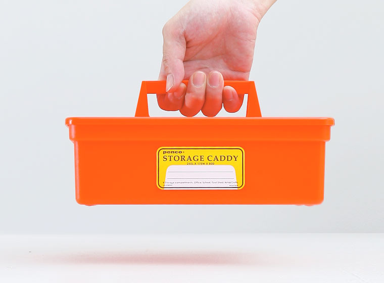 orange large penco storage caddy by hightide