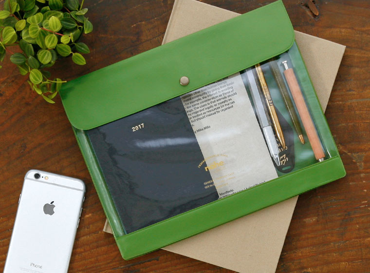 nahe general purpose case by hightide in a5 size green