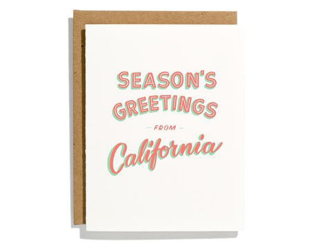 California Seasons Greetings Card