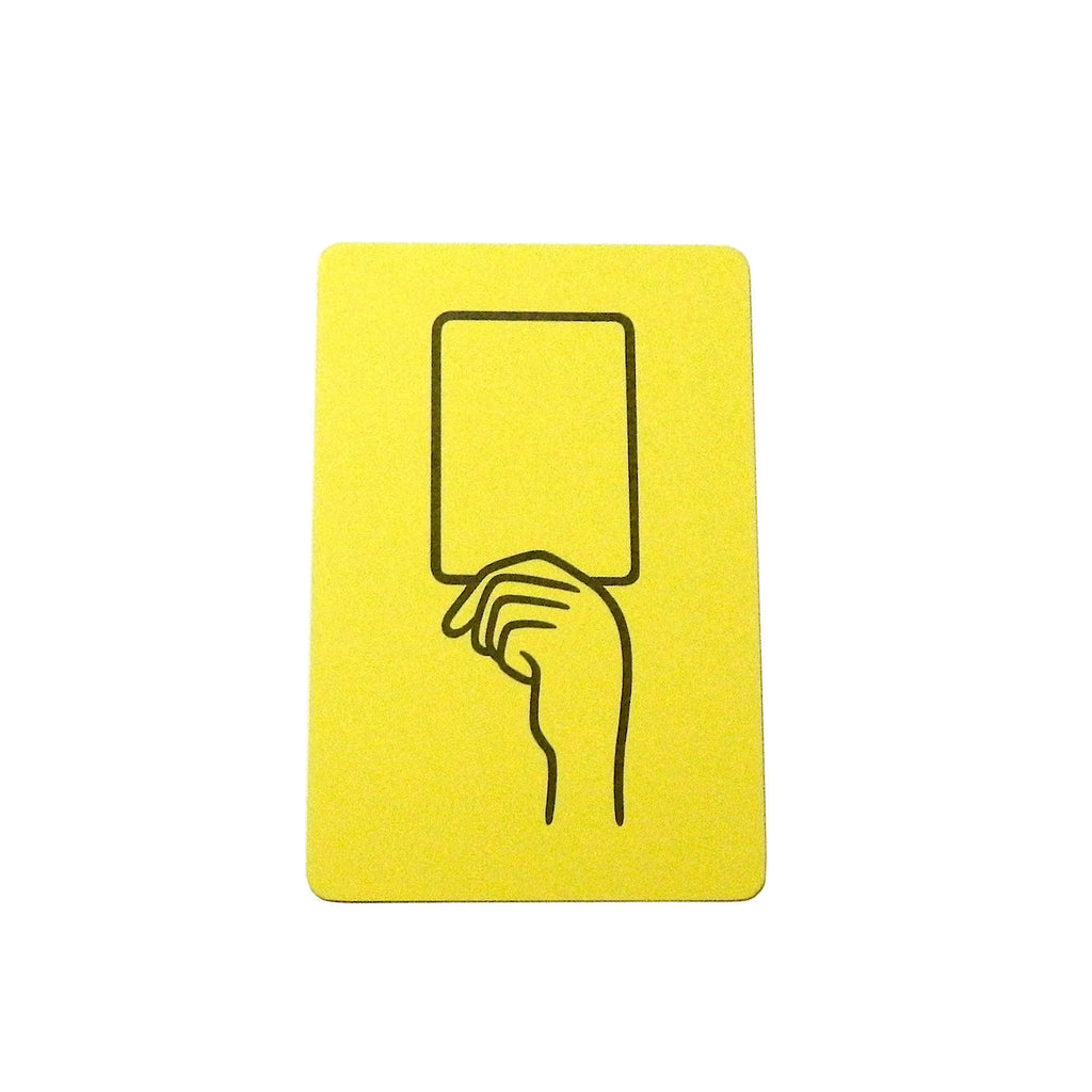 POSTCARD YELLOW CARD
