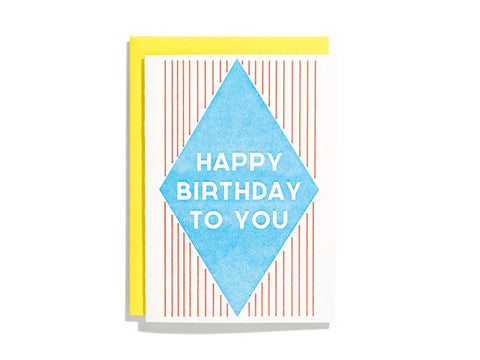 Blue Diamond Birthday Card