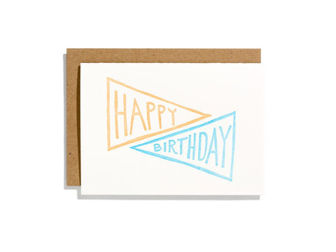 Birthday Pennant Card