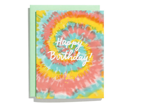Tie Dye Birthday Card