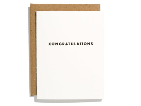 "Futura ""Congraturations"" Card"