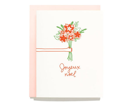 Joyeux Noel Bouquet Greeting Card