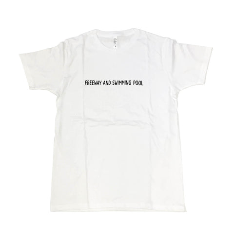 T-SHIRT FREEWAY&SWIMMING POOL/WHITE