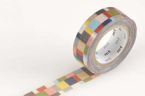 MT Washi Tape/ Mosaic Greyish
