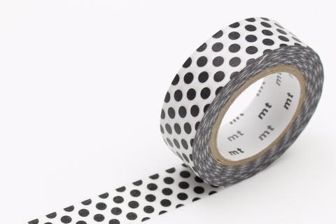 MT Washi Tape/ Dot Black 2