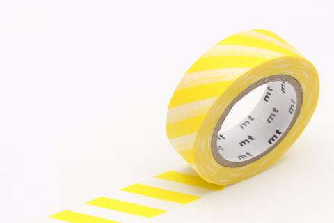 MT Washi Tape/ Stripe Lemon