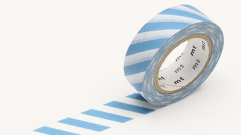 MT Washi Tape/ Stripe Greyish Sky