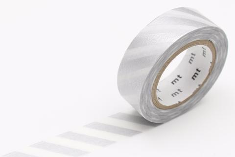 MT Washi Tape/ Stripe Silver 2