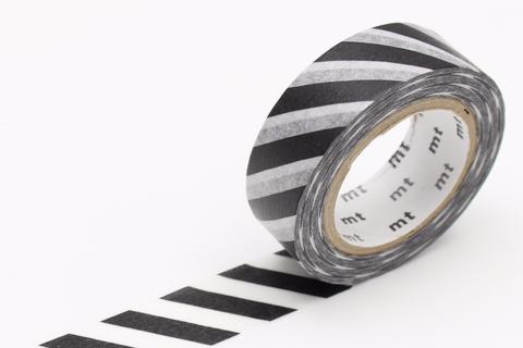 MT Washi Tape/ Stripe Black 2
